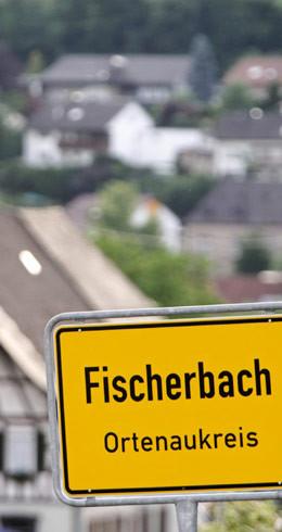 Ortsschild Fischerbach, Ortenaukreis
